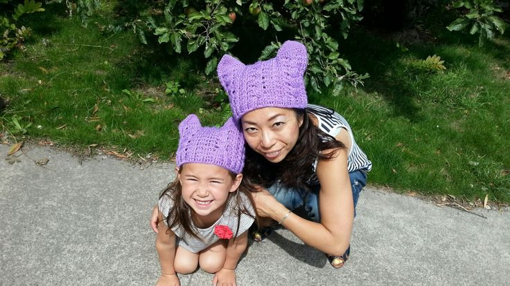 Crochet Cat Hat for Mother and Daughter/Son by Rumic1 on Etsy