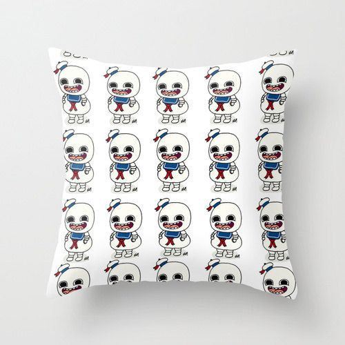 Stay Puft, ghostbusters,marshmallow man, cushion cover, art cushion, gift for her, gift for him, birthday gift, bill murray