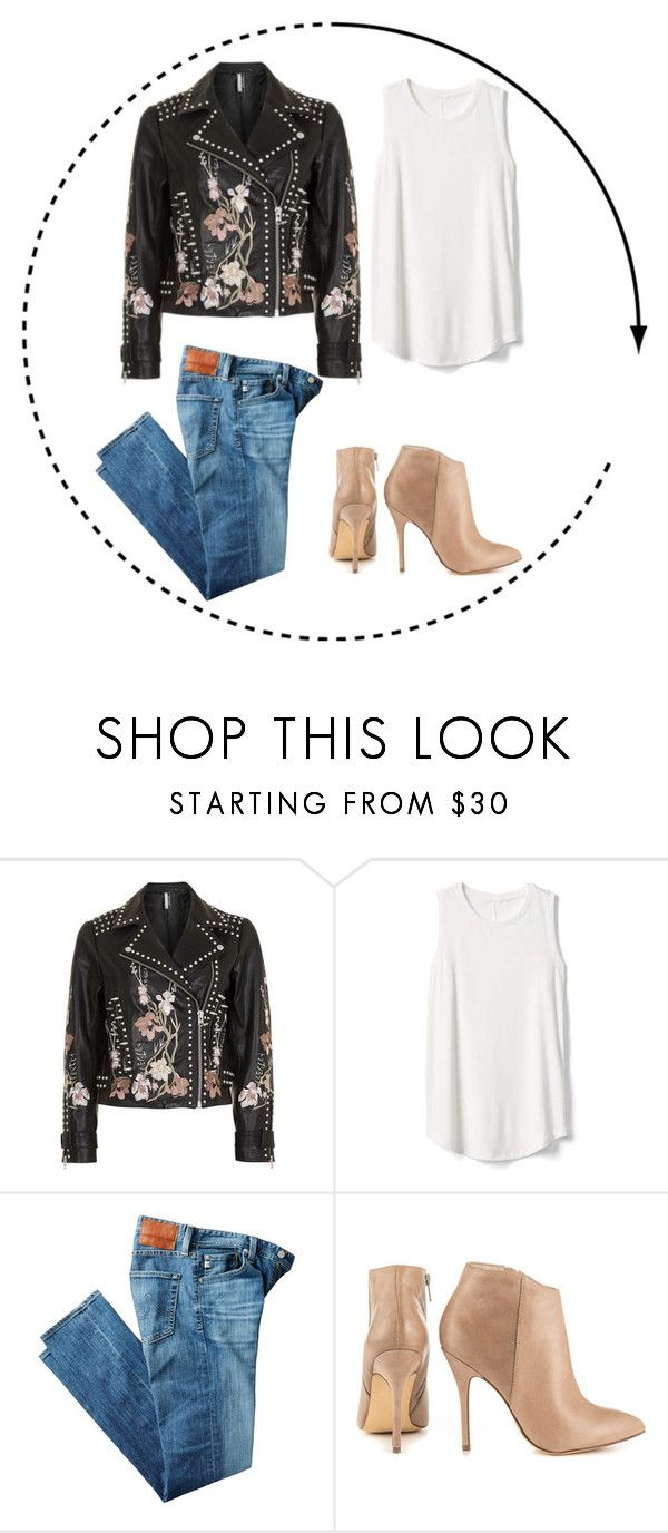 """bordado"" by natyapshopper on Polyvore featuring moda, Topshop, Gap, AG Adriano Goldschmied y Steve Madden"