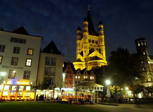 Cologne, Germany at night