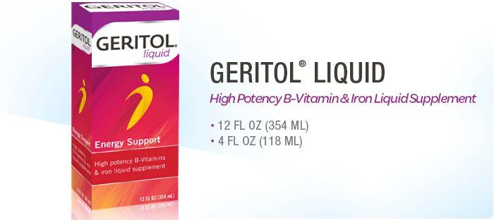 Liquid Supplement - High Potency B Vitamins - Geritol®