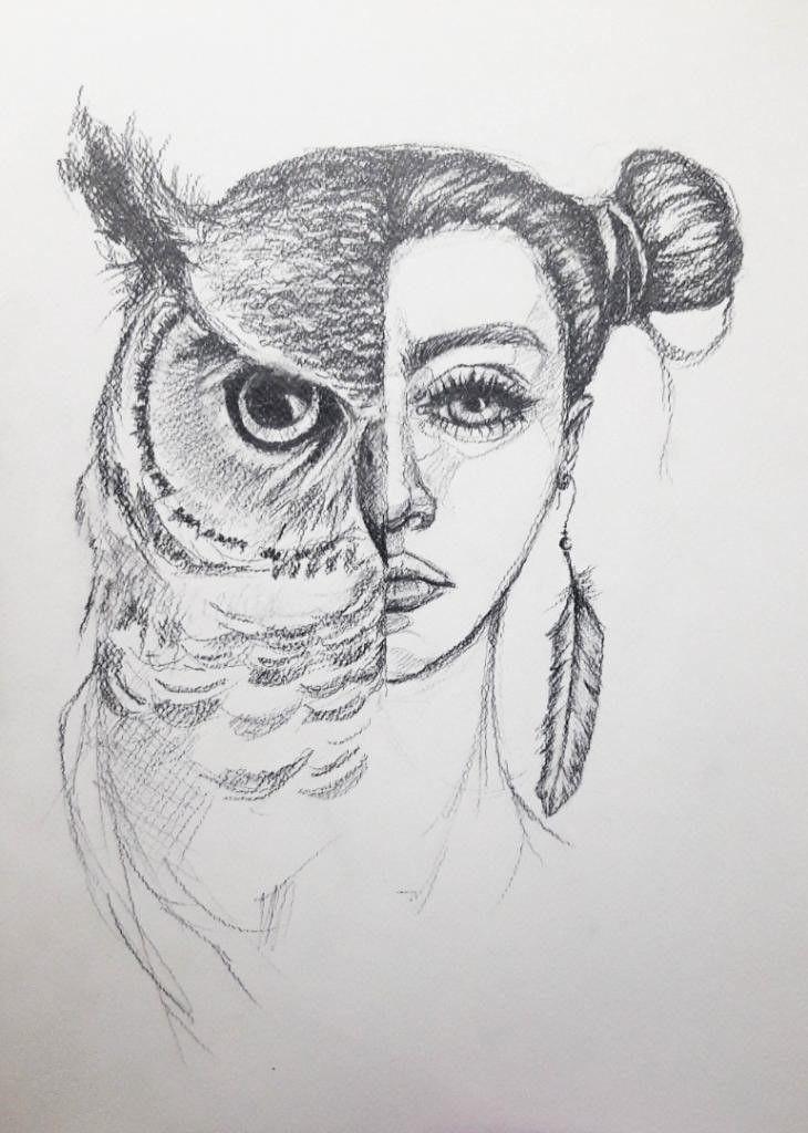 Zmiennokształtna Rysunek Ołówkiem Artystki Adriany Laube In 2020 Art Humanoid Sketch