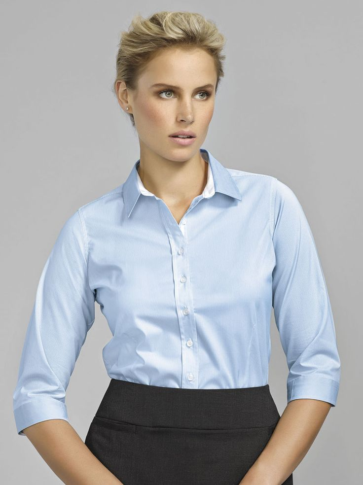 Fifth Avenue 3/4 Sleeve Shirt #bizcorporates #boulevard #fifthavenue #stripedshirt