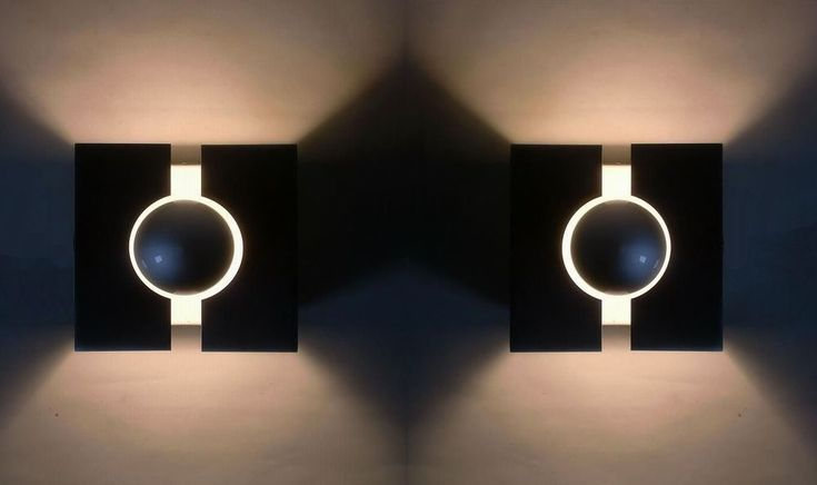 2x 70s Wall Lamp Pair of cubic SCONCE Space Age Wall Lamp Applique Annees 70  | eBay
