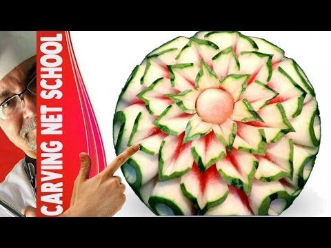 watermelon carving, art in watermelon, escultura em melancia, arte com m...