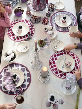 Tischsets und Servietten aus der hauseigenen Nähwerkstatt.