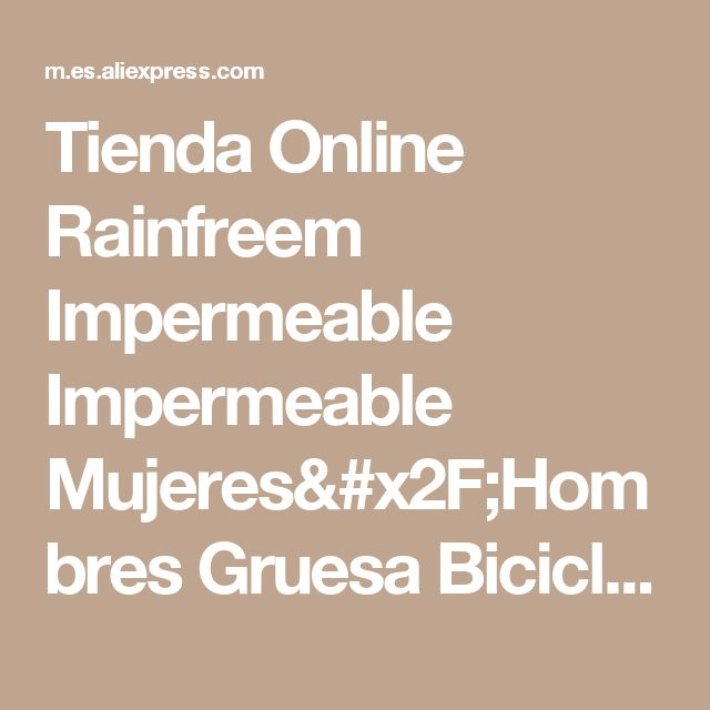 Tienda Online Rainfreem Impermeable Impermeable Mujeres/Hombres Gruesa Bicicleta Poncho impermeable Ropa Impermeable ropa de Lluvia Poncho Capa de Lluvia de Las Mujeres A Prueba de agua | Aliexpress móvil