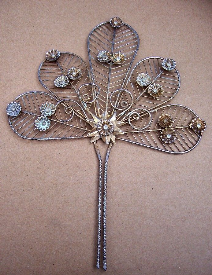Vintage Hair Comb Indonesia Sumatra Wedding Bridal Headdress.