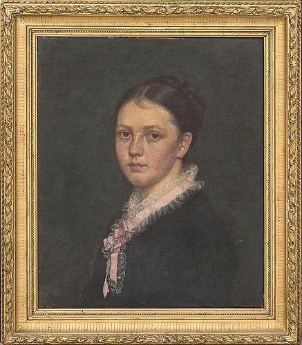 """""""Fröken Anna Dyhr målad av Fröken Hjemberg"""" Bukowskis Market"""