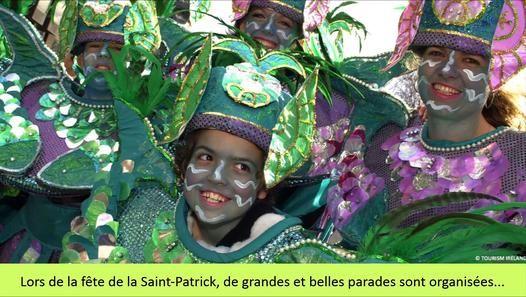 La fête de la Saint-Patrick a été popularisée par les Irlandais et est aujourd'hui célébrée chaque année dans le monde entier le 17 mars. La coutume veut que le 17 mars, tout le monde porte un vêtement ou un accessoire vert.   http://www.comptoir-irlandais.com