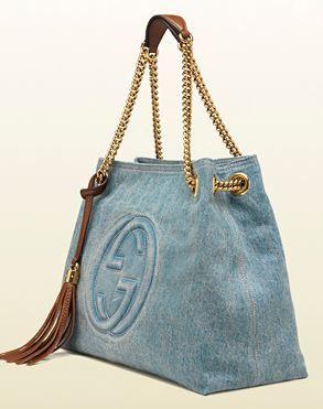 jans Borse Gucci primavera estate 2014 con manici dorati e dettagli in cuoio