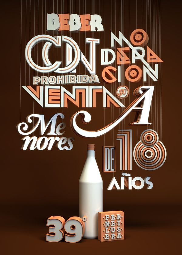 Typography lover by Pablo Alfieri, via Behance