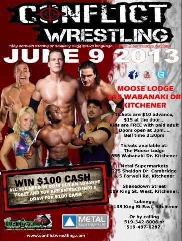 Conflict Wrestling  Kitchener - June 9, 2013