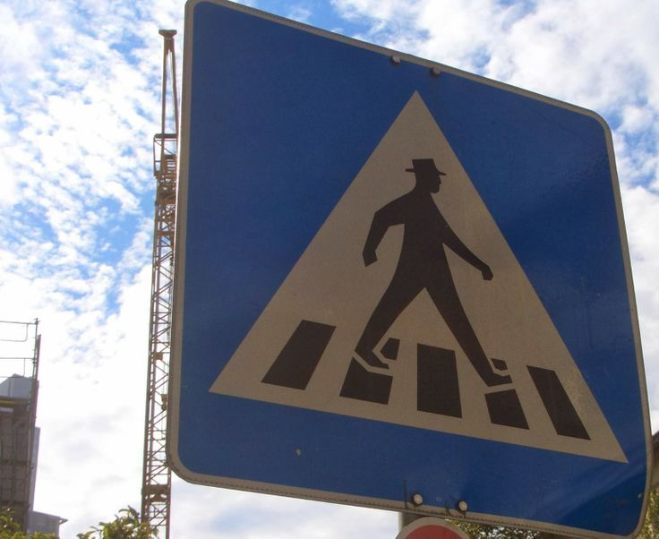 Men walk...