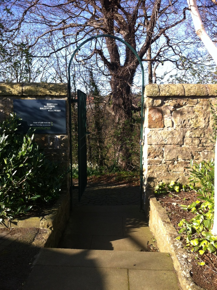 Through a gate to the grounds beyond and a path to the Water of Leith walkway. Visit on a short break in Edinburgh while staying at Craigwell Cottage (http://www.2edinburgh.co.uk)