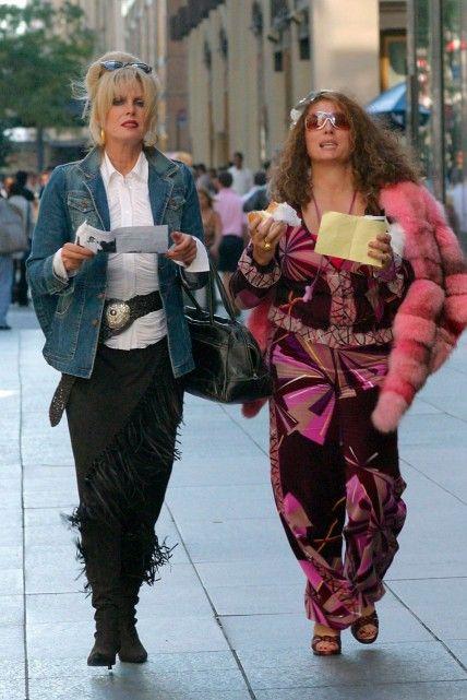 """Absolutely Fabulous"", Joanna Lumley as 'Patsy Stone' and Jennifer Saunders as 'Edina Monsoon'"
