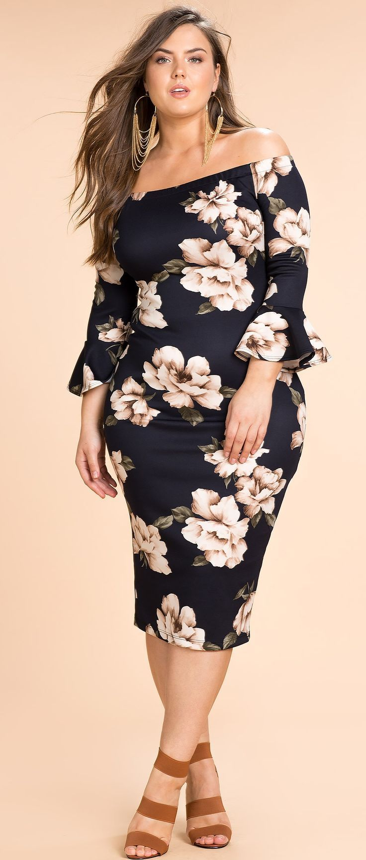 Plus Size Off Shoulder Dress Women Big Size Clothes - http://amzn.to/2ix7dK5
