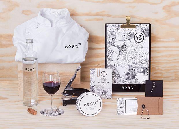 Branding Bord13 - restaurante em Malmo, Suécia - criado por agência Snask;