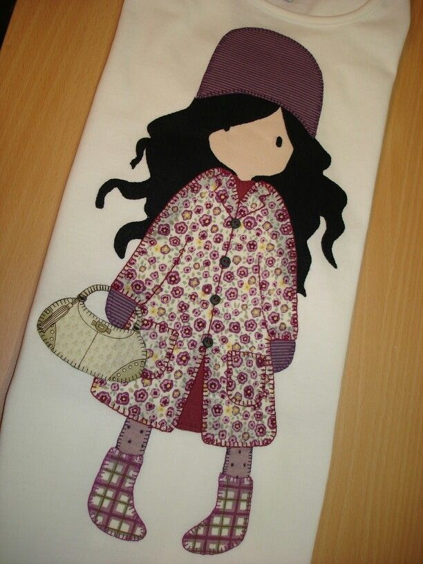 Gorjuss....A really cute idea for an appliqué !