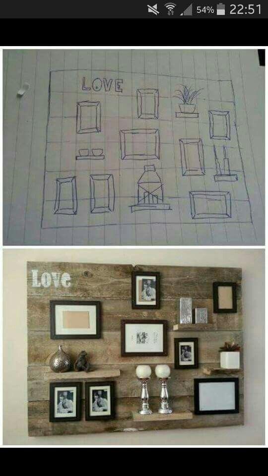 Wandbord foto lijstjes
