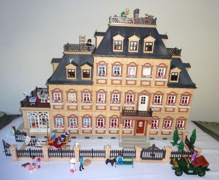 DREAM Playmobil CUSTOM 5300 Victorian Mansion - 14 ROOMS - NEW WALLPAPER- 34 Fig #PLAYMOBIL