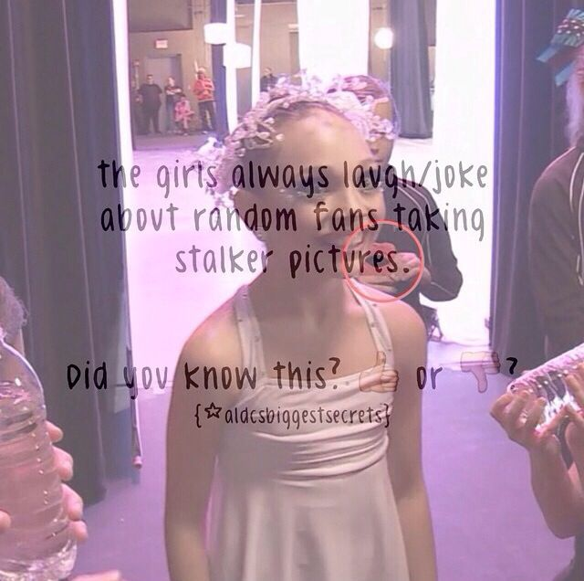 Dance Moms facts spam! (These are not made by me) I'd totally be taking pics of them lol