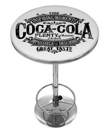 1886 Vintage Coca-Cola Logo Pub Table   mesas bandera ...