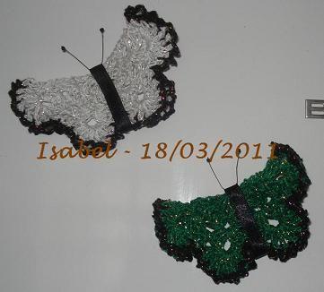 Imãs de geladeira em forma de borboletinhas!