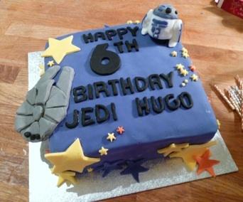 Hugo's Jedi cake