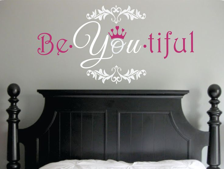 Be You tiful Wall Decal with Crown and Fancy Frame  door SignJunkies, $31,95