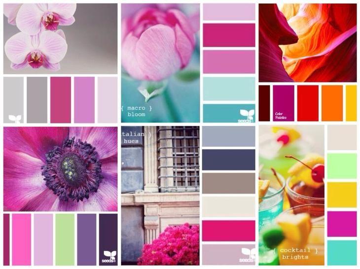 Палитра сочетания цветов