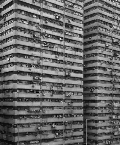 from photographer Michael Wolf's Hong Kong housing series
