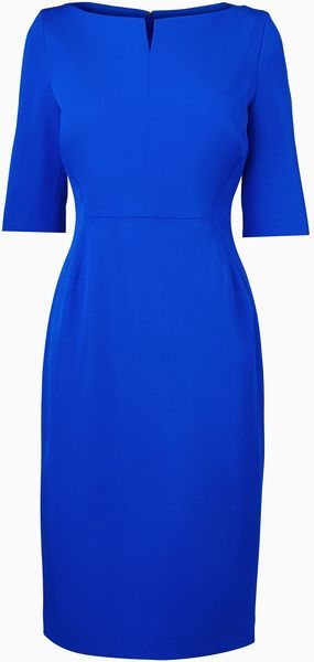 LK BENNETT Tan Fitted Dress - Lyst