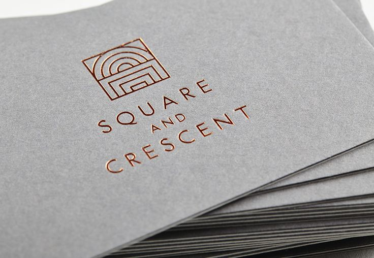 Logo and business cards for Square & Crescent designed by Touch.