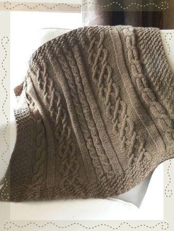 Couverture bébé au tricot