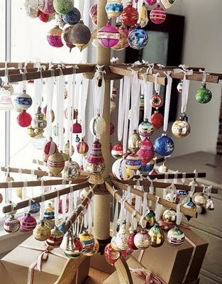 I need one of these to display my Mom's handpainted ornaments!  Would love to know how to make one!
