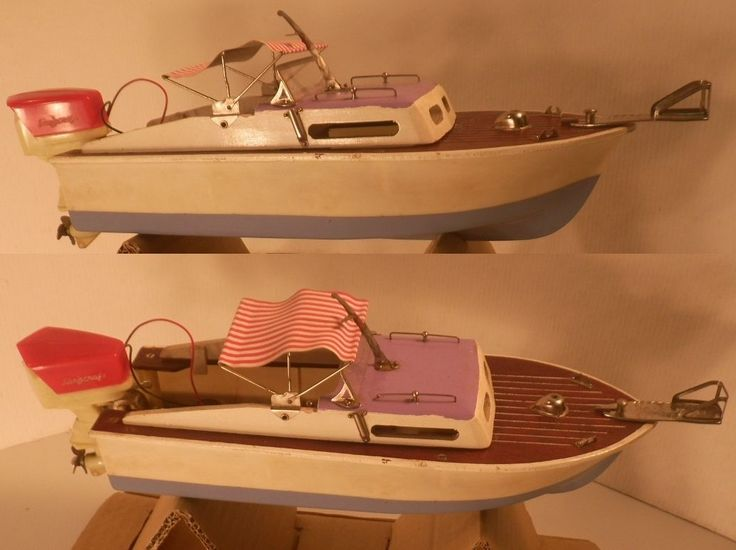 1950's Langcraft  Powered Toy Boat in Original Box with Langcraft Outboard Japan in Toys & Hobbies, Vintage & Antique Toys, Other Vintage & Antique Toys | eBay
