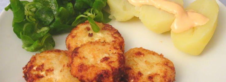 Polpettine di pollo in crosta di couscous con salsa rosa