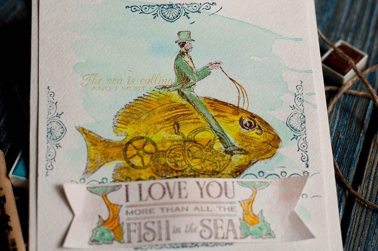 CD holder by tutorial Lena Astafeva #graphic45 #voyageunderthesea