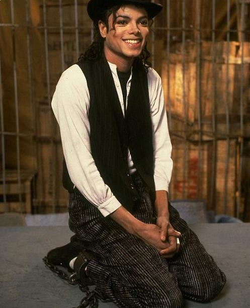 "Michael Jackson. (""Leave me Alone"" video, from the album Bad, included in the movie: Moonwalker)"