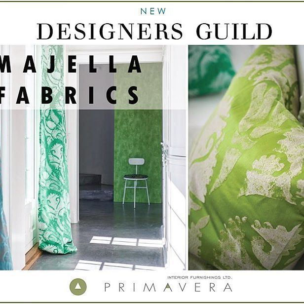New Designers Guild Fabrics Collections...MAJELLA! An elegant silk weave with a…
