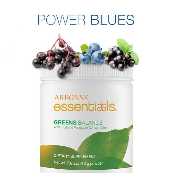 Did you know that blues like blueberries, blackcurrant, purple sweet potatoes, and elderberries are sources of antioxidants like anthocyanins, resveratrol and vitamin C? One serving of Arbonne Essentials® Greens Balance provides the nutritional benefit of 37 fruits and vegetables in the Arbonne key blend — giving you a whole rainbow in each glass!
