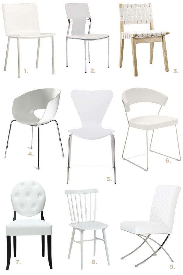 25 best ideas about White Dining Chairs on PinterestEames