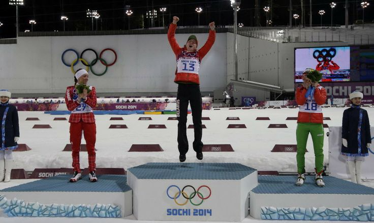 (AP Photo/Lee Jin-man) ▼14Feb2014 canada.com|Darya Domracheva of Belarus wins 15K individual biathlon race for 2nd gold at Sochi Olympics http://www.canada.com/olympics/news/darya-domracheva-of-belarus-wins-15k-individual-biathlon-race-for-2nd-gold-at-sochi-olympics #sochi2014 #biathlon #Domracheva #Belarus