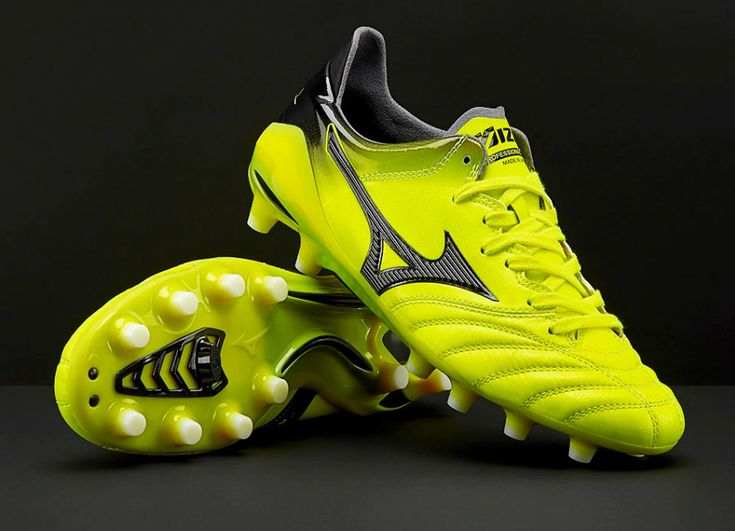 #football #soccer #futbol #Mizuno #footballboots Mizuno Morelia Neo II Made in Japan MD - Safety Yellow / Black
