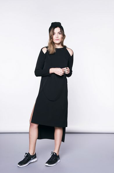Modern look - black dress :) original and unique
