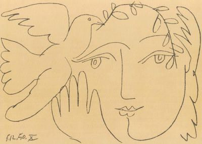 Le visage de la paix by Pablo Picasso