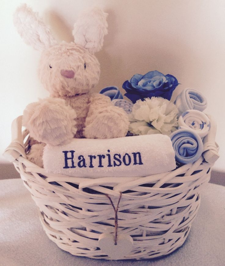 Image of Harry the Hare - Personalised Baby Gift Basket