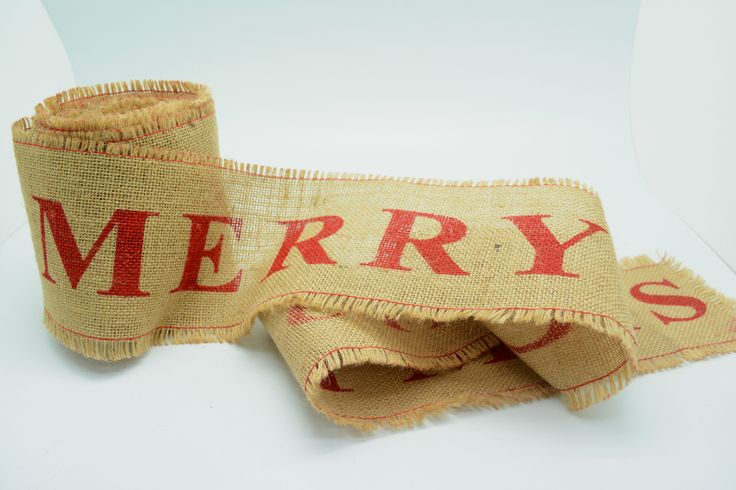 100mm Jute - Merry Christmas #Barama #Jute #Hessian #Rustic #Christmas #Christmasdecoration #Merrychristmas #Ribbon #Tablerunner #Giftpackaging #Packaging #Giftideas