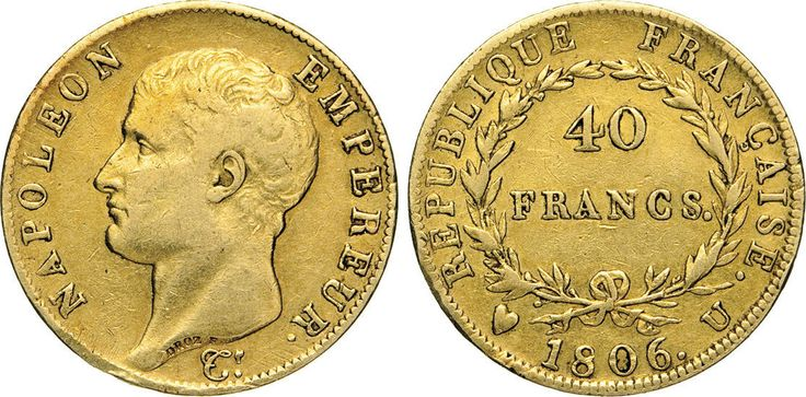 NumisBids: Numismatica Varesi s.a.s. Auction 65, Lot 723 : NAPOLEONE I, Imperatore (1804-1814) 40 Franchi 1806 Torino. Pag....